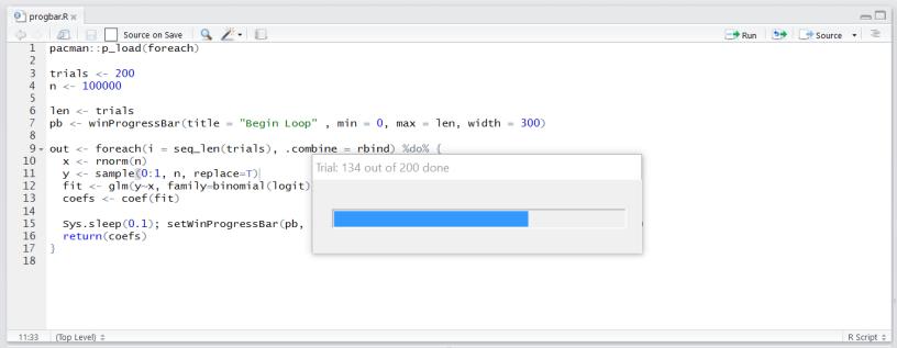 Python Logging Progress Bar